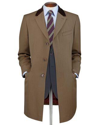 Camel plain wool coat