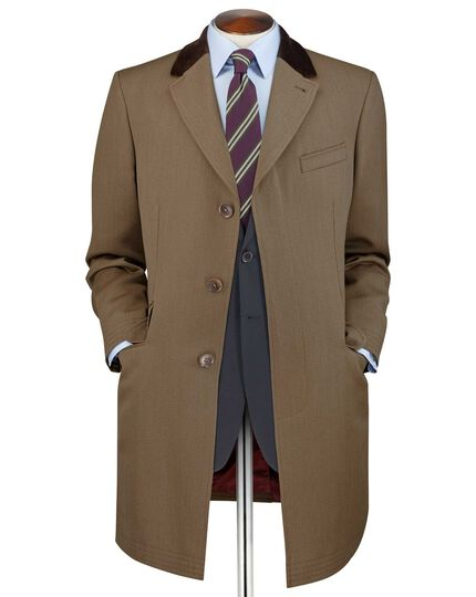 Camel plain wool coat