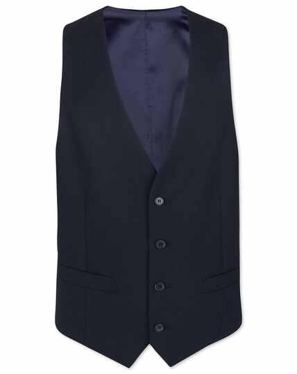 Midnight blue adjustable fit merino business suit vest