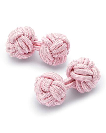 Boutons de manchette roses à nœuds