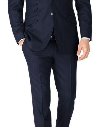 Navy slim fit British serge luxury suit