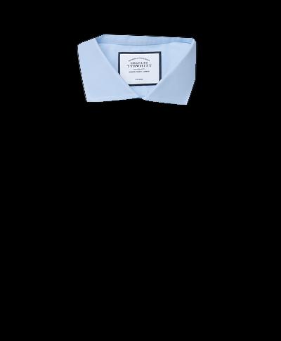 Classic fit cutaway non-iron twill sky blue shirt