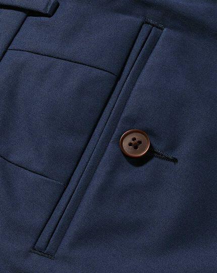 Dark blue classic fit stretch chinos