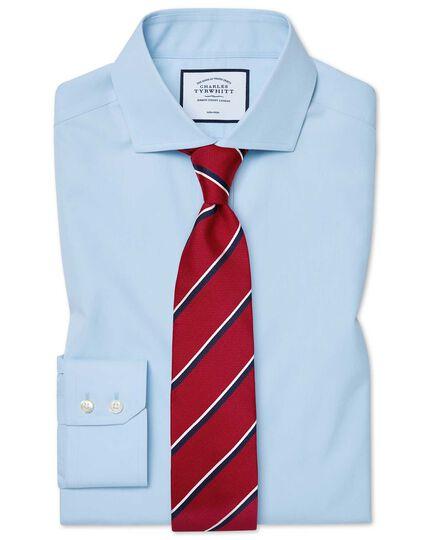 Classic fit cutaway non-iron natural cool sky blue shirt