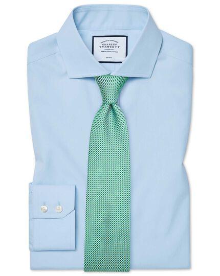 Extra slim fit cutaway non-iron natural cool sky blue shirt