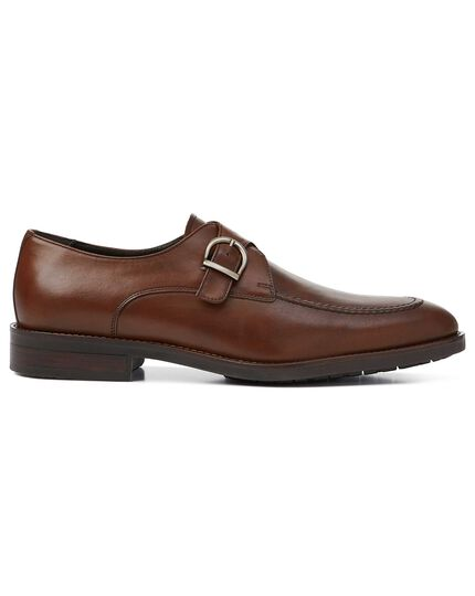 Brown performance monk shoes