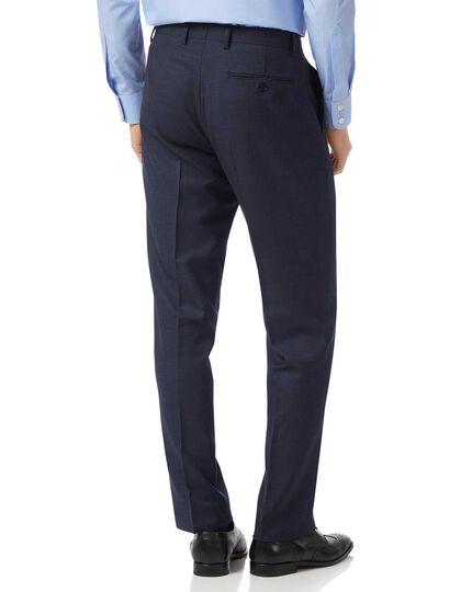 Pantalon de costume business bleu marine jaspé coupe droite
