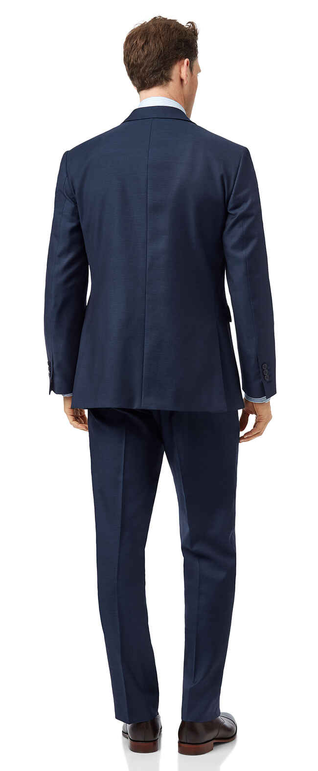 Classic Fit Business Anzug aus Twill in Blau