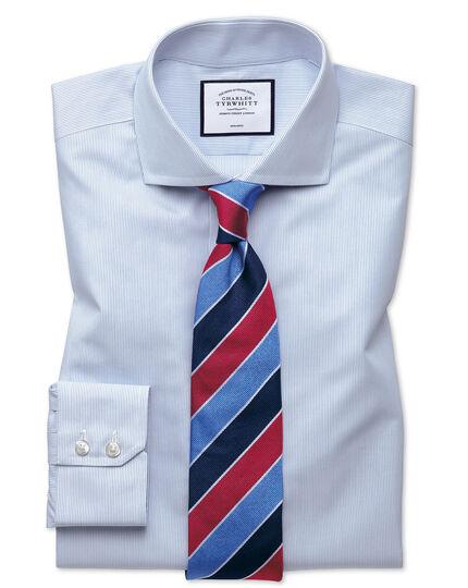 Bügelfreies Classic Fit Tyrwhitt Cool Hemd mit Streifen in Blau