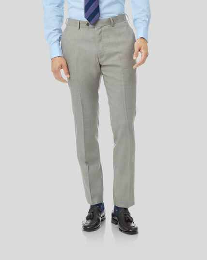 Sharkskin Travel Suit Trousers - Silver