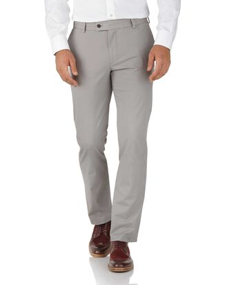 Slim Fit Stretch chino Hose in Grau