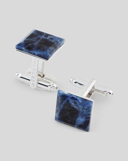 Sodalite Square Luxury Cufflink - Blue