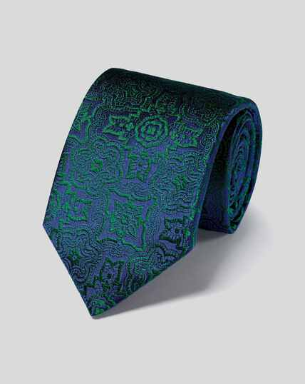 Silk Tile English Luxury Tie - Green