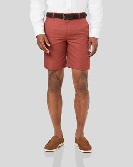 Cotton Linen Shorts - Red