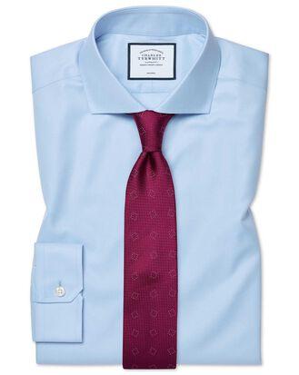 Super slim fit sky blue non-iron twill shirt