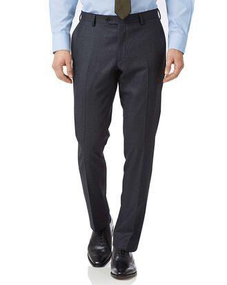 Pantalon de costume business anthracite et bleuà rayures en flanelle slim fit
