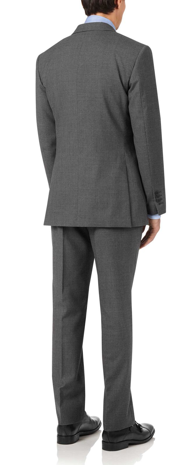 Charcoal slim fit Panama puppytooth business suit