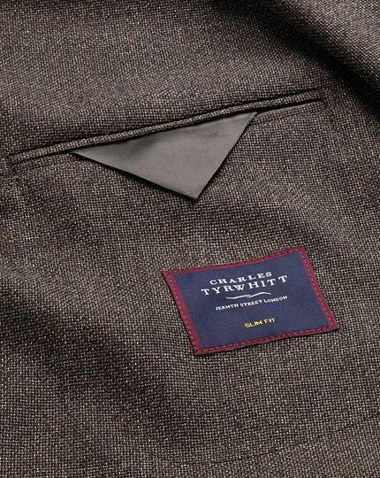Slim fit mocha Italian wool blazer