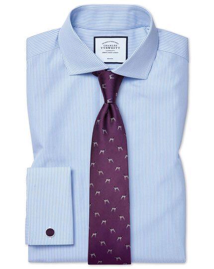 Purple silk motif jacquard pointer dog classic tie