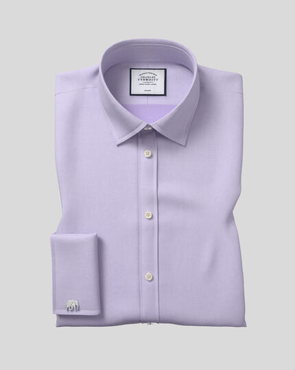 Classic Collar Non-Iron Micro Diamond Shirt - Lilac