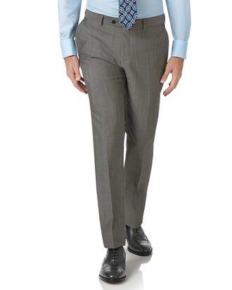 Pantalon de costume gris en tissu italien luxueux slim fit
