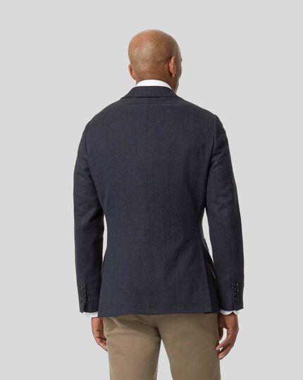 Italian Herringbone Jacket - Royal Blue