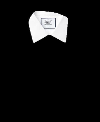 Bügelfreies Slim Fit Popeline-Hemd in Weiß