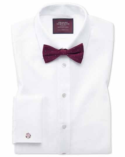 Slim fit luxury marcella bib front white dinner shirt
