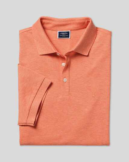Tyrwhitt Piqué-Polo – Orange meliert
