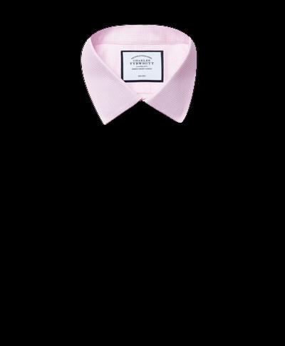 Chemise à motif à effet tirets rose extra slim fit sans repassage