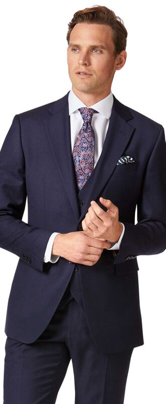 Veste de costume business bleu marine en twill slim fit