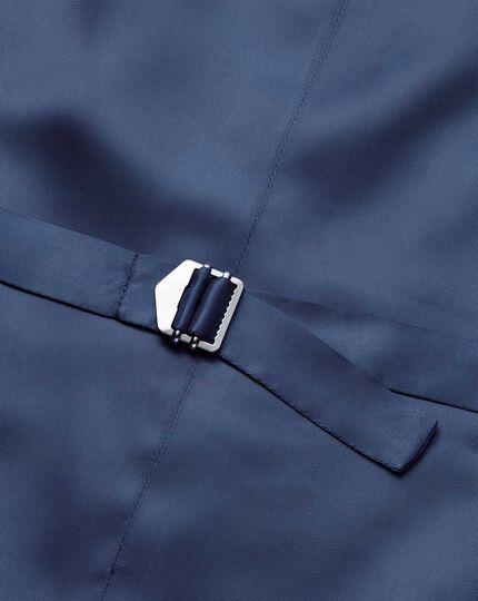 Gilet de costume business à rayures bleu en twill coupe ajustable