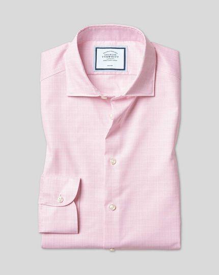 Bügelfreies Sketch-Hemd mit natürlichem Stretch und Business-Casual-Kragen - Rosa