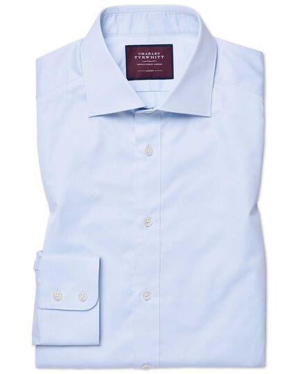 Hemelsblauw, luxe kepershirt met extra slanke pasvorm