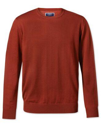 Rust crew neck merino sweater