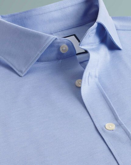 Slim fit business casual travel blue shirt