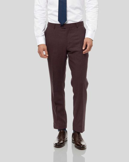 Semi-Plain Suit Pants - Aubergine