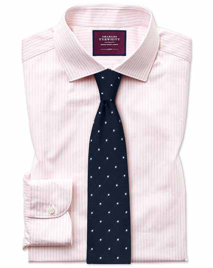 Slim fit luxury stripe pink shirt