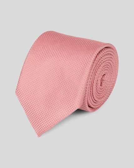 Silk Textured Stain Resistant Classic Tie - Light Pink