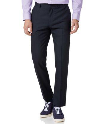 Midnight blue slim fit merino business suit pants