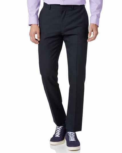Slim Fit Businessanzug-Hose aus Wolle in Mitternachtsblau