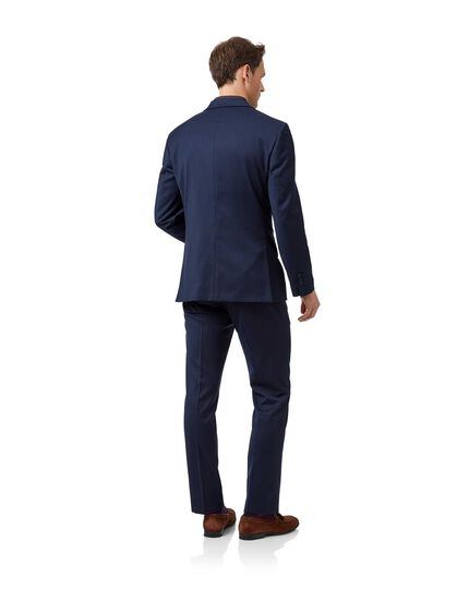 Mid blue slim fit Italian natural stretch suit