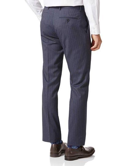 Airforce stripe slim fit Panama business suit pants