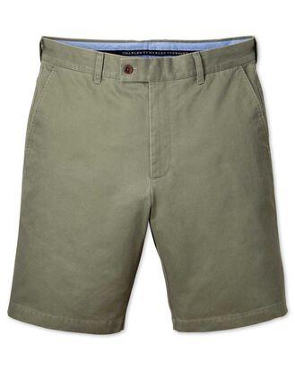 Short chino vert clair slim fit