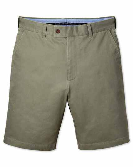 Light green slim fit chino shorts
