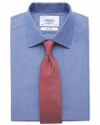 Chemise bleu marine extra slim fit à rayures fines