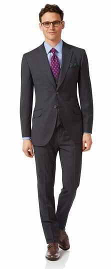 Italienischer Anzug Slim Fit Karos Grau