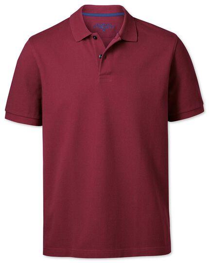 Piqué Poloshirt in Rot