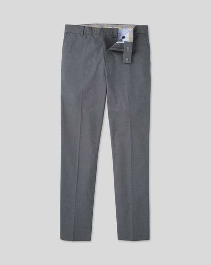 Non-Iron Arrow Weave Stretch Pants - Navy