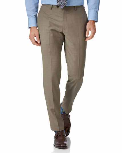 Fawn slim fit twill business suit pants